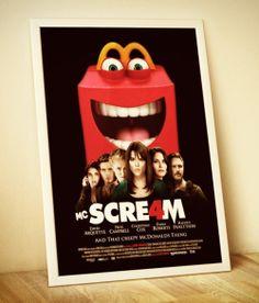 Concurso colocou mascote assustador do McDonald's em posters de filmes de terror - Blue Bus