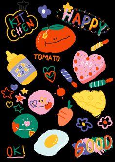 Kawaii Wallpaper, Cartoon Wallpaper, Iphone Wallpaper, Printable Stickers, Cute Stickers, Kawaii Stickers, Tumblr Stickers, Cute Doodles, Journal Stickers