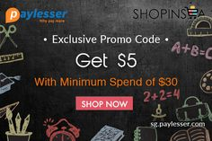 Apply this discount code and enjoy $5 discount with minimum spend of $30 at #Shopinsea #Coupon #paylesser Why pay more?