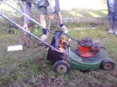 Steam Engine Lawnmower - Mark 1 - Slow