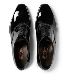 177658c655b2d2 KINGSMAN GEORGE CLEVERLEY PATENT-LEATHER OXFORD SHOES £545.41   Approx.  RM3