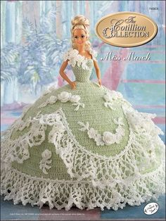 Crochet - Doll Patterns - Bed Doll Patterns - The Cotillion Collection Miss March 1992: