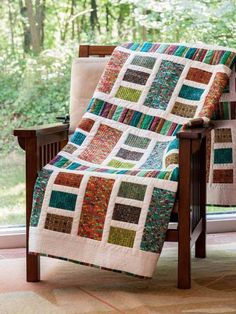 Barnaby's Bands Quilt Pattern Download - Throw/Lap Quilts - Patterns