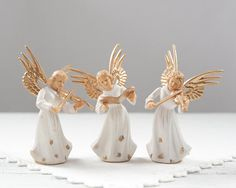 Vintage Plastic Angel Christmas Decorations  by smilemercantile