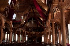 St. Petrus and Paulus Cathedral in Suriname; the inside