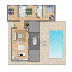 I like the idea Pool House Plans, Small House Floor Plans, House Layout Plans, Dream House Plans, House Layouts, Container House Plans, Container House Design, Small House Design, House Construction Plan