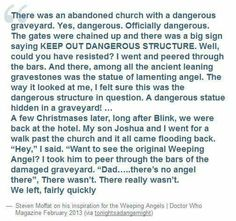 Moffats inspiration for Doctor Who's Weeping Angels