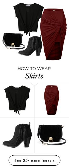 """Hi Low Skirt"" by sillycatgrl on Polyvore featuring LE3NO, Charlotte Russe and Diane Von Furstenberg"