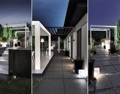 Zagospodarowanie terenu -M- Duży ogród za domem z pergolą, styl nowoczesny - zdjęcie od galantywarsztat