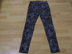 MISS ME NWOT WOMENS Jeans J05216S DENIM BLACK GREY Floral Flowers SKINNY SIZE 28