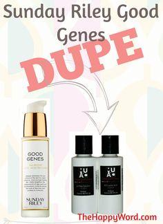 Sunday Riley Good Genes Dupe? A comparison of Good Genes vs. MUAC's lactic acid peel