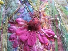 Fiber Art Projects   using tulle in fiber art projects - tutorial