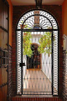 Córdoba : Wrought iron door ( 1865 )  Spain