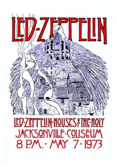 "Led Zeppelin Houses of the Holy1973 Poster • 100% Mint unused condition • Well discounted price + we combine shipping • Click on image for awesome view • Poster is 12"" x 18"" • Semi-Gloss Finish • Great Music Collectible - superb copy of original • Usually ships within 72 hours or less with tracking. • Satisfaction guaranteed or your money back.Go to: Sportsworldwest.com"