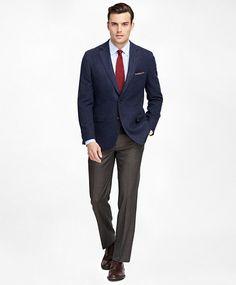 d6d028b810f Fitzgerald Fit Two-Button Wool Sport Coat Grey Slacks
