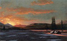 Winter Sunset, Oil On Canvas by William Bradford (1590-1657, United Kingdom)