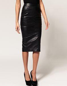 asos leather pencil skirt | ... skirts asos collection black asos pencil skirt in leather pencil skirt
