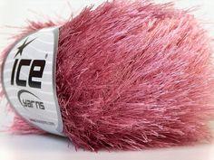 rose pink eyelash yarn novelty ice yarns by turkishmarket on Etsy, $4.50