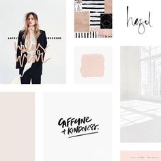I love the clean and modern style of this client mood board! I'm always a sucker for simplicity and lots of white space.                                                                                                                                                                                  More