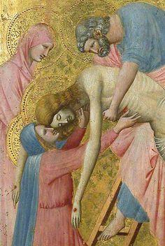 Deposition from the Cross (detail) / La Déposition de Croix (détail) // ca. 1325 - 1330 // Pietro da Rimini // Musée du Louvre // #Jesus #Christ #Cristo