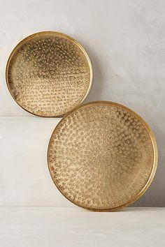 hammered brass trays - yes please.