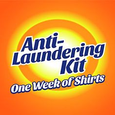 Anti-Laundering Kit - One Week of Shirts (Contains: Non-Flammable? Challenge Accepted; Caffeine Molecule; Meh; Pi by Numbers; You Read My T-Shirt; I'm Here Because You Broke Something; Rock Paper Scissors Lizard Stone. $79.99