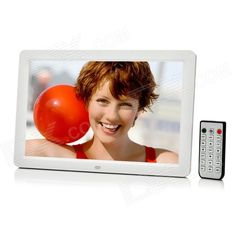 """12"""" OLED Screen Digital Picture Photo Frame w/ Remote Control / SD / Mini USB - White From 89,= for Euro 67,05"""