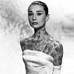 Photoshopped Images Of Famous People Covered In Beautiful Faux Tattoos    DesignTAXI.com