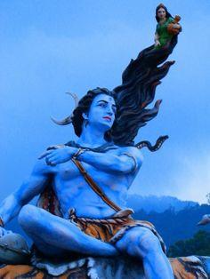 Rishikesh Shiva Statue | Shiva with Mother Ganga #Shiva #shiv #hindu #art