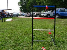 "Make a Ladder Golf Game. Otherwise known as Hillbilly Golf! Just use 1"" pvc, some glue, rope and a few golf balls."