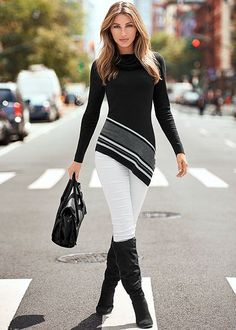 young woman wearing jeans and black high heels  fashion