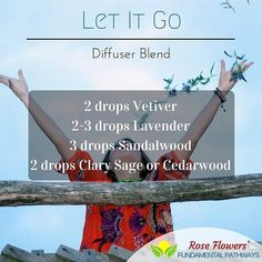 Pop this blend into your diffuser and just let it all go this weekend! That's what I am going to do. #essentialoils #diffuserblend