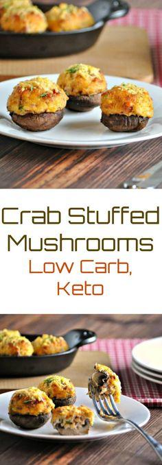 22 Magical Mushroom Recipes Keto Medicinal Mushrooms Keto Crab Stuffed Mushrooms With Bacon Crab Recipes, Mushroom Recipes, Low Carb Recipes, Burger Recipes, Cheese Recipes, Healthy Recipes, Low Carb Stuffed Mushrooms, Baked Mushrooms, Seafood Stuffed Mushrooms