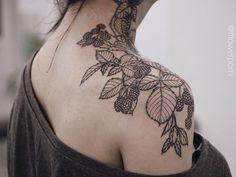 Blackberries tattoo