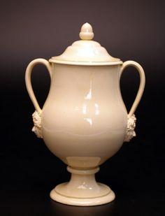 Creamware covered vase - 1765