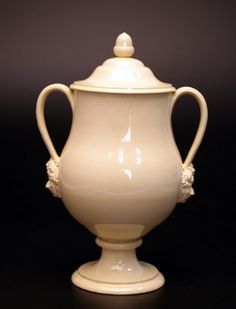 Creamware covered vase - 1765 - love the acorn!