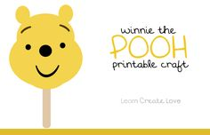 Wednesday, is Winnie the Pooh Day ~ it's his birthday! I made this simple craft so that Lorelai and her little friends could have a Pooh craft to do at our playdate on Wednesday. Winnie The Pooh Themes, Winnie The Pooh Birthday, Disney Winnie The Pooh, Toddler Crafts, Crafts For Kids, Printable Crafts, Free Printable, Printables, Disney With A Toddler