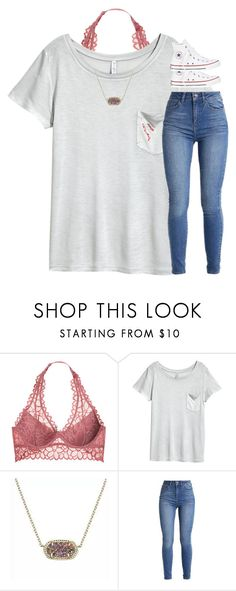 """""""Untitled #3206"""" by laurenatria11 ❤ liked on Polyvore featuring Victoria's Secret, H&M, Kendra Scott and Converse"""