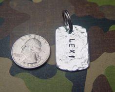 custom dog tag / military / nickel silver / by oDDDogcreations, $11.00