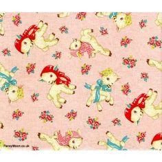 American Old Story Lambs Pink, Trefle, Kokka nursery fabric
