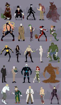 Batman: The Biggest Villains Gotham Villains, Comic Villains, Comic Book Characters, Comic Books Art, Comic Art, Batman Poster, Batman Artwork, Marvel Dc Comics, Batman Universe