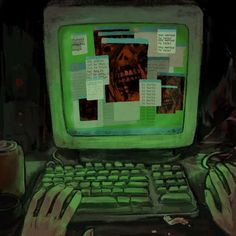 Horror Art, Pretty Art, Art Tips, Aesthetic Art, Things To Think About, Scp, Distortion, Stay Tuned, Spiral