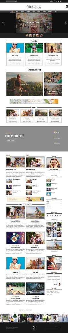 Yorkpress - Creative WordPress Blog Theme #wpress #blogging Download: http://themeforest.net/item/yorkpress-creative-wordpress-blog-theme/13003036?ref=ksioks