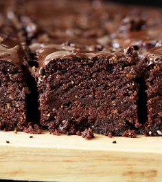 Triple Chocolate Salted Caramel Brownies by Vegan Richa.  You had me at Chocolate and Salted Caramel!! Mmmmm.....