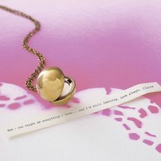 vintage orb locket secret message necklace by madison honey vintage | notonthehighstreet.com