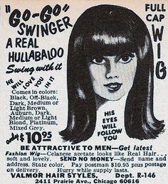 Go-Go Wig advertisement, 1968.