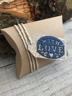 Items similar to Pillow Favour Boxes with Gold Glitter Tag on Etsy Glitter Hearts, Gold Glitter, Favour Boxes, Handmade Wedding, Twine, Color Schemes, Favors, Sweet Treats, Events