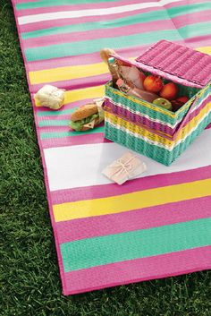 This might be the most colorful picnic basket ever.
