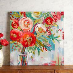 Poppy Flowers Art | Pier 1 Imports