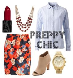 """""""Preppy Chic"""" by xoxo-bng on Polyvore featuring J.Crew, Tommy Hilfiger, Vince, Lucky Brand and Michael Kors"""